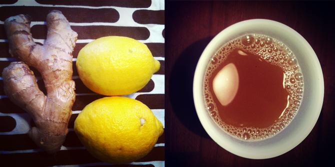 Ingwertee mit Zitrone und Honig