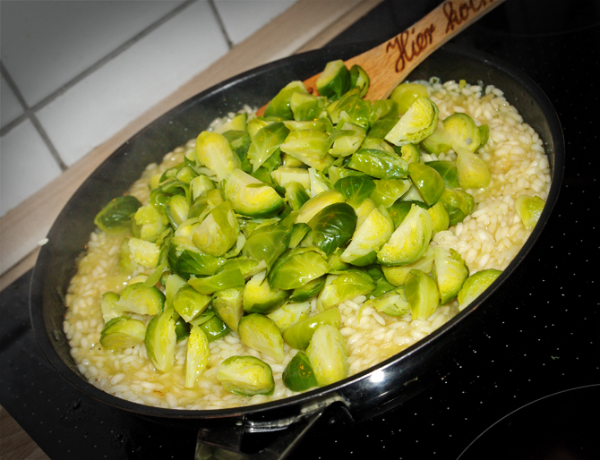 Rosenkohl-Risotto