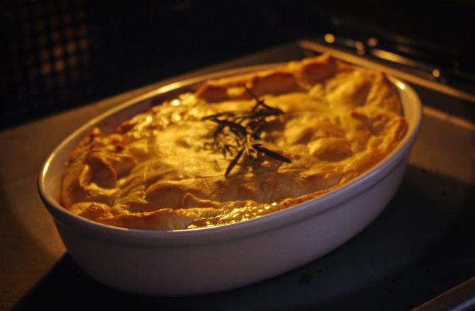 Hähnchen-Pastete im Ofen