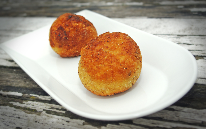 Arancini vom Spargelrisotto