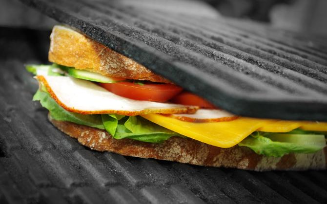 Gegrilltes Sandwich
